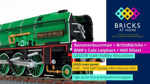 LEGO train discussion panel - Bricks At Home 2021
